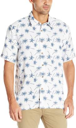 Quiksilver Waterman Men's Mini Palms Button Down Shirt