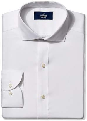 Buttoned Down Men's Slim Fit Cutaway-Collar Non-Iron Dress Shirt (No Pocket)
