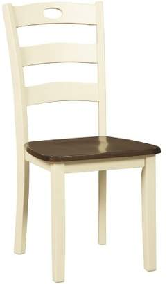 Signature Design by Ashley Set of 2 Woodanville Dining Room Side Chair White/Brown