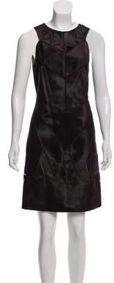 J. Mendel Ponyhair Knee-Length Dress