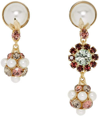 Erdem Crystal and Pearl Drop Earrings