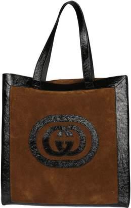 Gucci Logo Applique Large Tote
