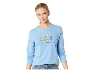 Life is Good Bed Breakfast Cool Long Sleeve T-Shirt