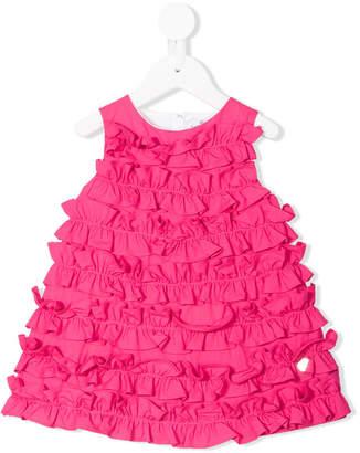 Simonetta ruffled flared dress
