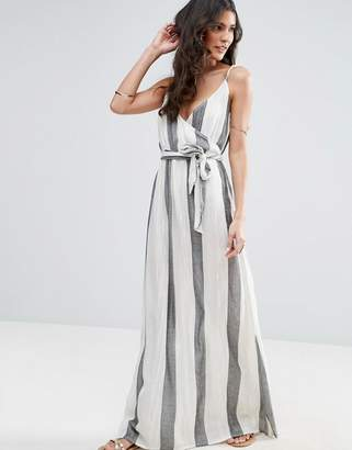 ASOS Maxi Beach Dress in Natural Fibre Stripe $43 thestylecure.com