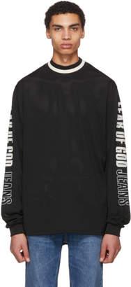 Fear Of God Black Mesh Motocross Jersey Sweater