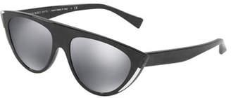 Cat Eye Alain Mikli Miss J Mirrored Cat-Eye Sunglasses