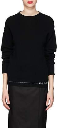 Prada Women's Logo-Hem Cashmere Sweater