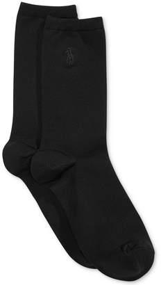 Polo Ralph Lauren Women's Microfiber Flat Knit Trouser Socks