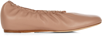 LANVIN Leather ballet flats $566 thestylecure.com