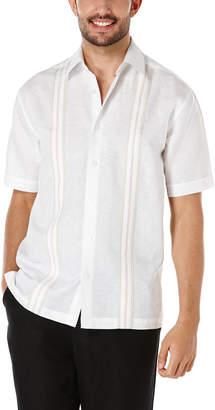 Cubavera Linen Cotton Short Sleeve Tricolor Insert Panel