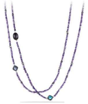 David Yurman Dy Signature Bead Necklace With Amethyst, Black Orchid