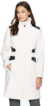 Via Spiga Women's Funnel-Neck Wool-Blend Coat Outerwear