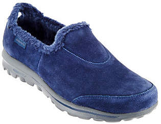 As Is Skechers GOwalk Suede Faux Fur Shoes - Comfy $39 thestylecure.com