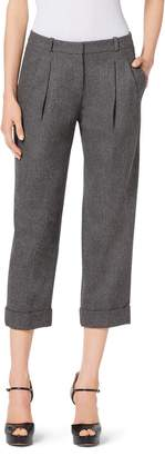 Michael Kors Wool and Cashmere Capri Slouch Trousers