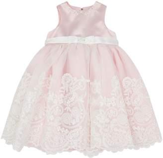 Sarah Louise Lace Trim Party Dress