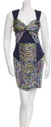 Matthew Williamson Ruched Printed Dress