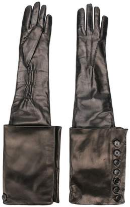 Ann Demeulemeester gothic leather gloves