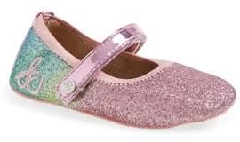 Sam Edelman Glitter Rainbow Dancer Mary Jane Crib Shoe