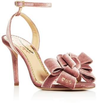 Charlotte Olympia Women's Velvet Bow High-Heel Sandals