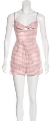 Reformation Linen Gingham Dress