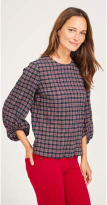 J.Mclaughlin Blair Blouse in Plaid
