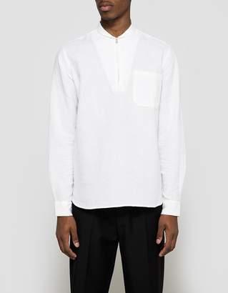 Our Legacy Shawl Zip Shirt White