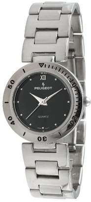 Peugeot Women's 728BK Silver-Tone Bracelet Watch