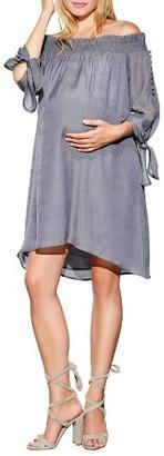 Women's Maternal America Juliet Off The Shoulder Maternity Dress $148.80 thestylecure.com