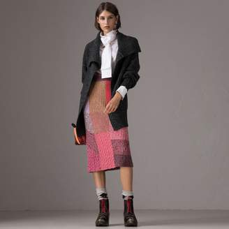 Burberry Wool Cashmere Blend Oversized Cardigan