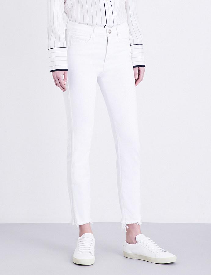 3x13X1 Frayed-hem cropped high-rise jeans