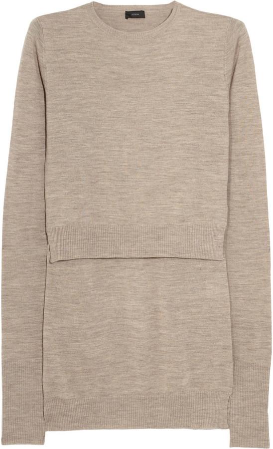 Joseph Double-layered wool sweater