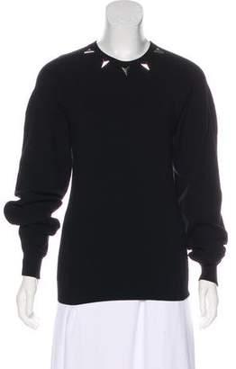 Thierry Mugler Embellished Knit Sweater