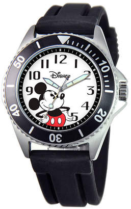 Disney Mickey Mouse Mens Black Strap Watch-W000507