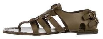 Pedro Garcia Leather Cage Sandals