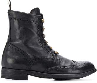 Officine Creative brogue military boots