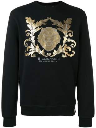 Billionaire metallic print sweatshirt