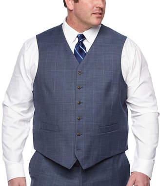STAFFORD Stafford Plaid Classic Fit Suit Vest - Big and Tall