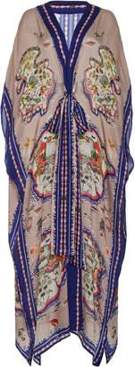 Liberty London Sedona Salome Printed Silk Caftan Dress Size: M/L