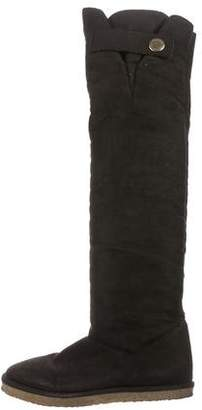 Stella McCartney Vegan Suede Over-The-Knee Boots
