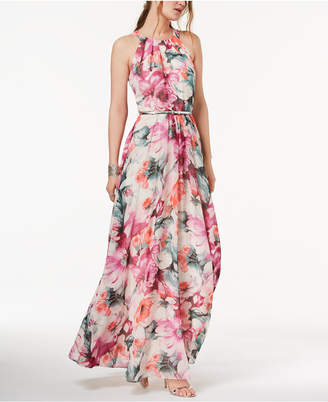 INC International Concepts I.n.c. Petite Printed Belted Halter Maxi Dress, Created for Macy's