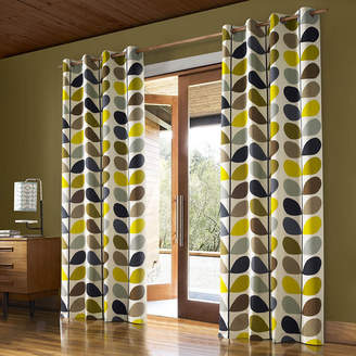 Orla Kiely Multi Stem Eyelet Curtains - Duck Egg - 117x183cm