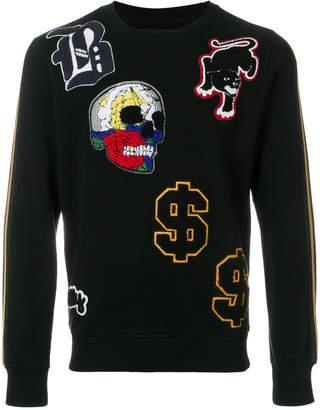 Hydrogen patch applique sweater
