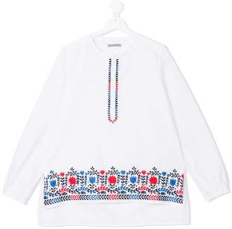 Ermanno Scervino TEEN floral embroidered tunic