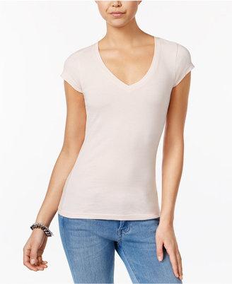 Planet Gold Juniors' V-Neck T-Shirt $12 thestylecure.com