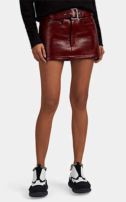 Alexander Wang Women's Leather Belted Miniskirt - Red