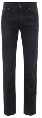 BOSS Hugo Regular-fit jeans in overdyed indigo stretch denim 32/34 Dark Blue