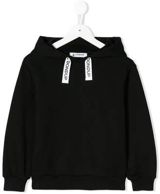 Dondup Kids logo drawstring hoodie