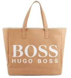 BOSS Paper-fibre tote bag with logo print