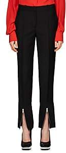Givenchy Women's Mohair-Wool Gabardine Wide-Leg Trousers - Black